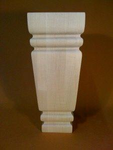 Pool Table Wood Carved Billiard Furniture Leg Taper