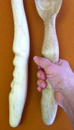 Wood Carved Wooden Spoons With A Grip
